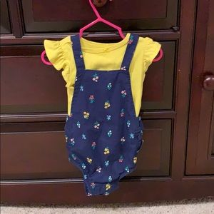 Carter's 2-Piece Floral Overalls